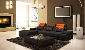 Modern Living Room Sectionals Modern Living Room Interior Design With Black L Shaped Sofa