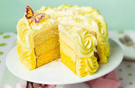 Lemon Ombre Layer Cake Dessert Recipes Goodtoknow