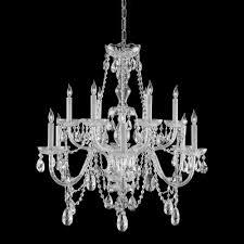 crystorama traditional crystal 12 light italian crystal chrome chandelier