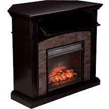 go mystic with a black corner electric fireplace