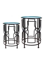 round metal side table set of 2 round metal side table green and black round metal