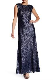 Vera Wang Lavender Sequined Back Cutout Gown Nordstrom Rack