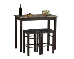 ... Using Backless Black Wood Kitchen Chair Including Rectangular Cream Granite  Top Small Kitchen Bar Table And Black Wood Square Table Legs Image