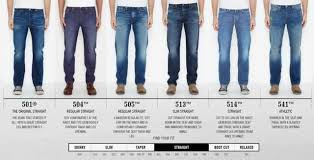 Levis Men Fit Guide Jeans Fit Fashion Jeans