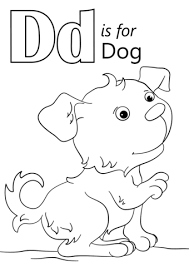Letter D Is For Dog Coloring Page Free Printable Coloring Pages