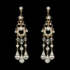 at last swarovski crystal chandelier earrings gold
