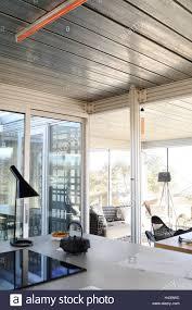 Wohnung Modern Küche Fenster Wohnzimmer Detail Stockfoto Bild