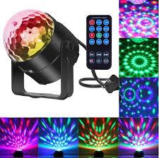 Amazon.com: Comwinn Disco Lights Sound Activated Strobe Light Disco Ball Dj Lights  Party Lights Xmas 7colors Disco light Disco Party Lights Show for ...