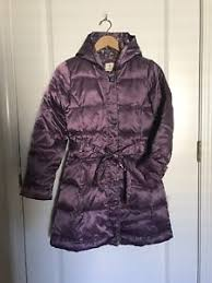 Lands End Jacket Size Chart Details About Lands End Kids Girls Down Coat Jacket L 14 Purple