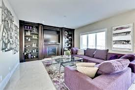gray living room furniture. Purple Living Room Bright Sofas With Fireplace And Gray Furniture S