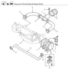 throttle body and stepper motor top end engine discovery ii home > discovery > land rover discovery ii > engine > top end > throttle body stepper motor