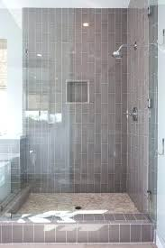 shower tile grout 1 2 3 4 adania subway tile gray grout with stone shampoo niche shower tile grout