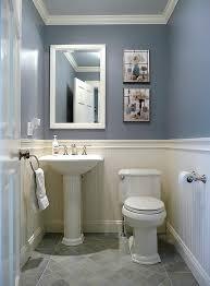 powder room with blue walls