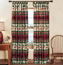 Primitive Curtains For Living Room Rustic Curtains Cabin Window Treatments