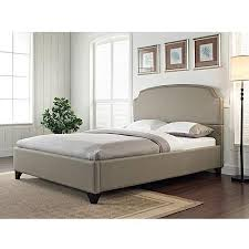 Maison Queen Upholstered Bed Pebble Stone Walmart