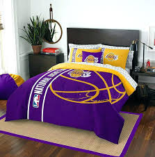 fancy idea lakers queen comforter set los angeles nba basketball theme with throughout prepare 0