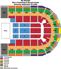 2006 Mr Olympia Seating Charts Orleans Arena