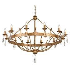 windsor 12 light chandelier elstead lighting
