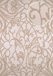 Barok Behang Atlas Cla 597 6 Vliesbehang Glad Met Grafisch Patroon