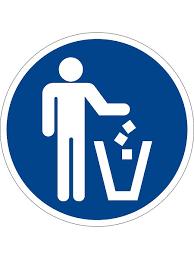 "<b>Наклейка</b> информационная ""Место для <b>мусора</b>"", 2 шт ..."