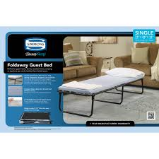 Hideaway Guest Bed Simmons Beautysleep Foldaway Guest Bed Cot With Memory Foam