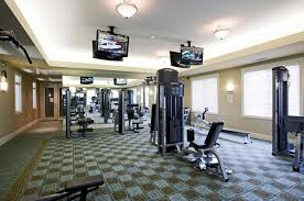 Home Gym Lighting Ideas Designing A Home Gym Ideas With Hardwood Flooring Home