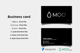do business card moo vista print gold