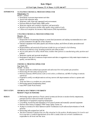 Chemical Process Operator Resume Samples Velvet Jobs