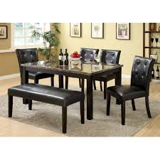 furniture of america dining sets. Furniture Of America Benning Heights 6-Piece Faux Marble Dining Set With Bench Sets