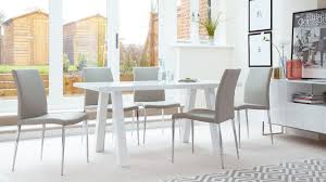 grey leather dining chairs canada. family white gloss dining set grey leather chairs canada i