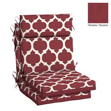 hampton bay 21 5 x 20 outdoor dining chair cushion in olefin frida trellis
