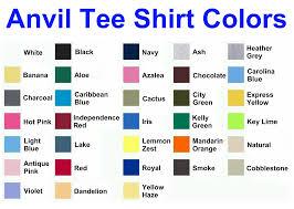 Described Hanes T Shirt Colors Chart 2019
