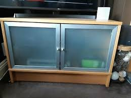 ikea tv oak veneer stand cabinet unit