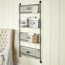wire wall baskets metal 5 basket wire basket wall shelves with hooks