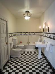 Modern Art Deco Bathrooms Magnificent Antique Bronze Wall Light Fixtures Over Pedestal Sink