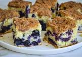 blueberry coffee cake with brown sugar topping