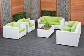 modern rattan furniture. modern outdoor rattan furniture with green cushion and white color schemes