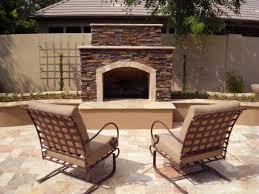 arizona landscape design fireplace