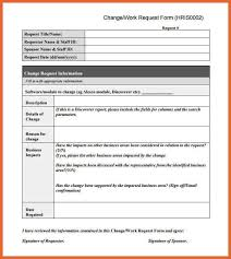 request for information template change request template change request template for software changes