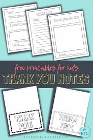 Whether it's to thank someone for a gift, an act of kindness, attendance to a special day, or any number of things, a. Printable Thank You Cards For Kids The Kitchen Table Classroom