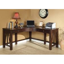 home office furniture corner desk. Amazon.com: Riverside Furniture Castlewood Corner Desk In Warm Tobacco: Kitchen \u0026 Dining Home Office