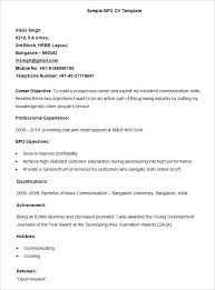 Bpo Resume Templates 35 Free Samples Examples Format Download For