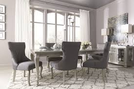 Silver Dining Room Set Coralayne Silver Rectangular Extendable Dining Room Set
