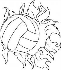 Volleyball Color Pages Super Power Spike Volleyball Coloring Page Download Print Online