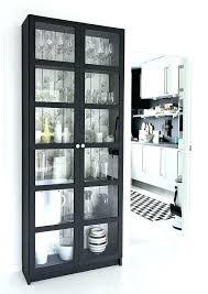glass door bookshelf modern shaker 2 bookcase bayside