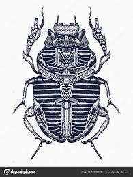 священный для древних египтян жук скарабея татуировки искусства