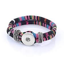 amazon vocheng whole 12 colors snap bracelet interchangeable 18mm on jewelry nn 30010 pack of 10pcs b jewelry