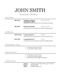 Free Printable Sample Resume Templates Httpwwwresumecareer Blank