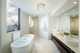view in gallery freesatnding tub 12 870x580 20 soaking tubs to add extra luxury to your master bathroom
