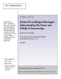 PDF) Perfect Fit or Shotgun Marriage?: Understanding The Power and Pitfalls  in Partnerships